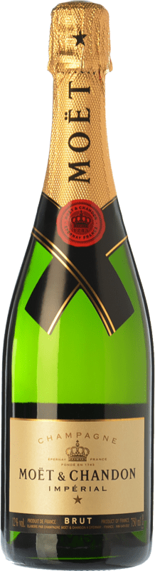 405,95 € | White sparkling Moët & Chandon Impérial Brut Reserva A.O.C. Champagne Champagne France Pinot Black, Chardonnay, Pinot Meunier Jéroboam Bottle-Double Magnum 3 L
