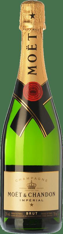 774,95 € | White sparkling Moët & Chandon Impérial Brut Reserva A.O.C. Champagne Champagne France Pinot Black, Chardonnay, Pinot Meunier Imperial Bottle-Mathusalem 6 L