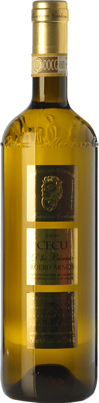 13,95 € Free Shipping | White wine Monchiero Carbone Cecu D.O.C.G. Roero Piemonte Italy Arneis Bottle 75 cl