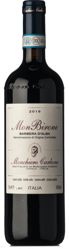 36,95 € Free Shipping | Red wine Monchiero Carbone MonBirone D.O.C. Barbera d'Alba Piemonte Italy Barbera Bottle 75 cl