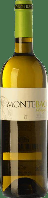 11,95 € Spedizione Gratuita | Vino bianco Montebaco D.O. Rueda Castilla y León Spagna Verdejo Bottiglia 75 cl