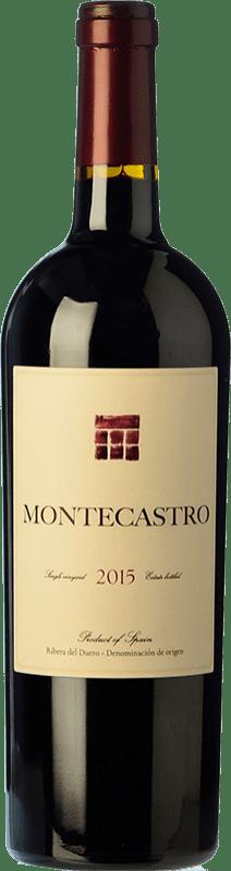 23,95 € Envío gratis | Vino tinto Montecastro Crianza D.O. Ribera del Duero Castilla y León España Tempranillo, Merlot Botella 75 cl