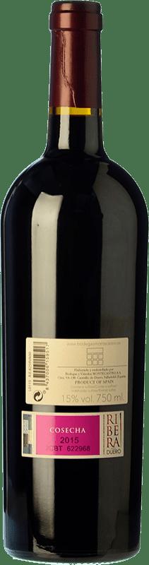 22,95 € Free Shipping | Red wine Montecastro Crianza D.O. Ribera del Duero Castilla y León Spain Tempranillo, Merlot Bottle 75 cl