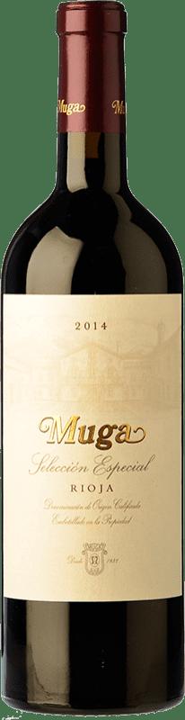 29,95 € Envío gratis | Vino tinto Muga Selección Especial Reserva D.O.Ca. Rioja La Rioja España Tempranillo, Garnacha, Graciano, Mazuelo Botella 75 cl