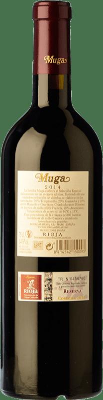 29,95 € Free Shipping   Red wine Muga Selección Especial Reserva D.O.Ca. Rioja The Rioja Spain Tempranillo, Grenache, Graciano, Mazuelo Bottle 75 cl