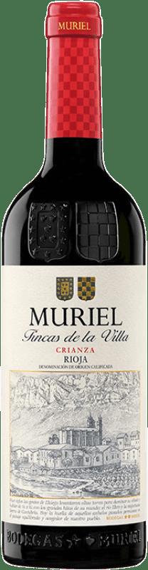 7,95 € 免费送货   红酒 Muriel Fincas de la Villa Crianza D.O.Ca. Rioja 拉里奥哈 西班牙 Tempranillo 瓶子 75 cl