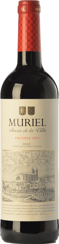 7,95 € Free Shipping | Red wine Muriel Fincas de la Villa Crianza D.O.Ca. Rioja The Rioja Spain Tempranillo Bottle 75 cl