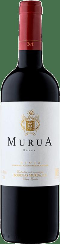 18,95 € Envío gratis | Vino tinto Murua Reserva D.O.Ca. Rioja La Rioja España Tempranillo, Graciano, Mazuelo Botella 75 cl