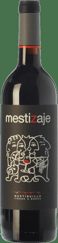 12,95 € 免费送货 | 红酒 Mustiguillo Mestizaje Joven D.O.P. Vino de Pago El Terrerazo 巴伦西亚社区 西班牙 Tempranillo, Merlot, Grenache, Cabernet Sauvignon, Bobal 瓶子 75 cl