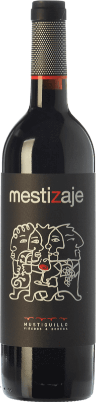 12,95 € Free Shipping | Red wine Mustiguillo Mestizaje Joven D.O.P. Vino de Pago El Terrerazo Valencian Community Spain Tempranillo, Merlot, Grenache, Cabernet Sauvignon, Bobal Bottle 75 cl