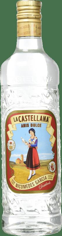 9,95 € Envío gratis | Anisado La Castellana Dulce España Botella 70 cl