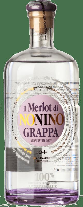 27,95 € Free Shipping | Grappa Nonino Il Merlot I.G.T. Grappa Friulana Friuli-Venezia Giulia Italy Bottle 70 cl