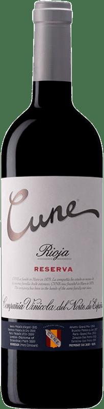 33,95 € Envoi gratuit | Vin rouge Norte de España - CVNE Cune Reserva D.O.Ca. Rioja La Rioja Espagne Tempranillo, Grenache, Graciano, Mazuelo Bouteille Magnum 1,5 L
