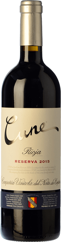 33,95 € Envío gratis | Vino tinto Norte de España - CVNE Cune Reserva D.O.Ca. Rioja La Rioja España Tempranillo, Garnacha, Graciano, Mazuelo Botella Mágnum 1,5 L