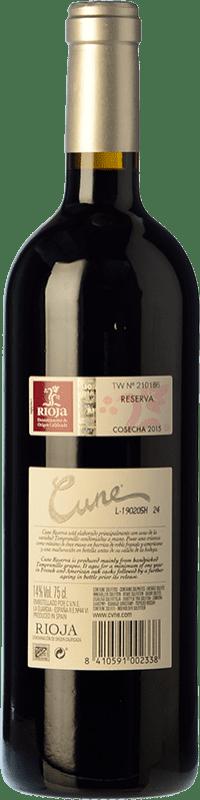 14,95 € Free Shipping   Red wine Norte de España - CVNE Cune Reserva D.O.Ca. Rioja The Rioja Spain Tempranillo, Grenache, Graciano, Mazuelo Magnum Bottle 1,5 L