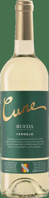 6,95 € | Vin blanc Norte de España - CVNE Cune D.O. Rueda Castille et Leon Espagne Verdejo Bouteille 75 cl