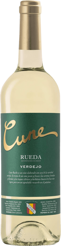 6,95 € Envío gratis | Vino blanco Norte de España - CVNE Cune D.O. Rueda Castilla y León España Verdejo Botella 75 cl