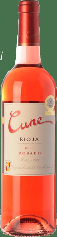 5,95 € Spedizione Gratuita | Vino rosato Norte de España - CVNE Cune Joven D.O.Ca. Rioja La Rioja Spagna Tempranillo Bottiglia 75 cl