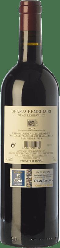 54,95 € Free Shipping | Red wine Ntra. Sra de Remelluri Granja Gran Reserva 2009 D.O.Ca. Rioja The Rioja Spain Tempranillo, Grenache, Graciano Bottle 75 cl