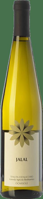 15,95 € Free Shipping | White wine Ognissole Jalal I.G.T. Puglia Puglia Italy Muscatel White Bottle 75 cl