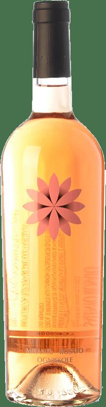 9,95 € Free Shipping | Rosé wine Ognissole Mirante I.G.T. Salento Campania Italy Primitivo Bottle 75 cl