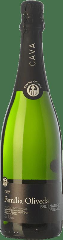 8,95 € Envío gratis | Espumoso blanco Oliveda Brut Nature Reserva D.O. Cava Cataluña España Macabeo, Xarel·lo Botella 75 cl