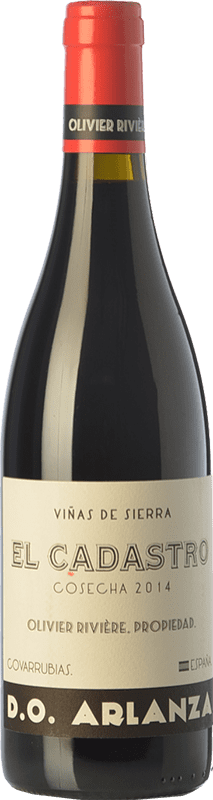 39,95 € Free Shipping | Red wine Olivier Rivière El Cadastro Crianza D.O. Arlanza Castilla y León Spain Tempranillo, Grenache Bottle 75 cl