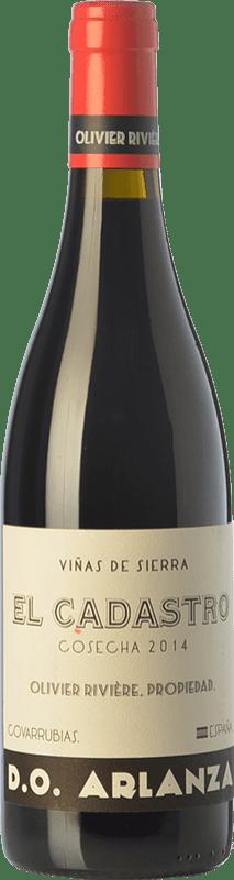 39,95 € Envoi gratuit | Vin rouge Olivier Rivière El Cadastro Crianza D.O. Arlanza Castille et Leon Espagne Tempranillo, Grenache Bouteille 75 cl