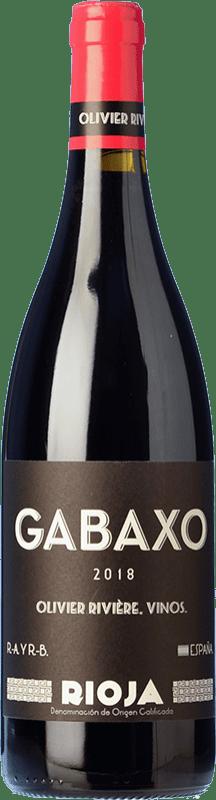 19,95 € Envío gratis | Vino tinto Olivier Rivière Gabaxo Joven D.O.Ca. Rioja La Rioja España Tempranillo, Garnacha Botella 75 cl