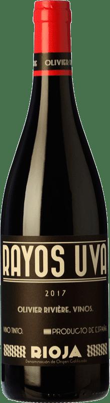 12,95 € 免费送货 | 红酒 Olivier Rivière Rayos Uva Joven D.O.Ca. Rioja 拉里奥哈 西班牙 Tempranillo, Grenache, Graciano 瓶子 75 cl