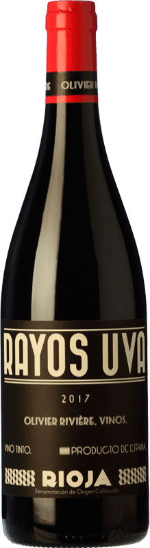 12,95 € Envío gratis | Vino tinto Olivier Rivière Rayos Uva Joven D.O.Ca. Rioja La Rioja España Tempranillo, Garnacha, Graciano Botella 75 cl