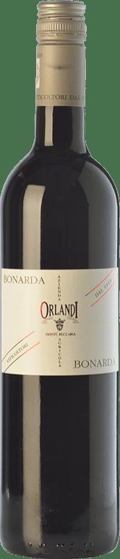 6,95 € Free Shipping | Red wine Orlandi Bonarda D.O.C. Oltrepò Pavese Lombardia Italy Croatina Bottle 75 cl