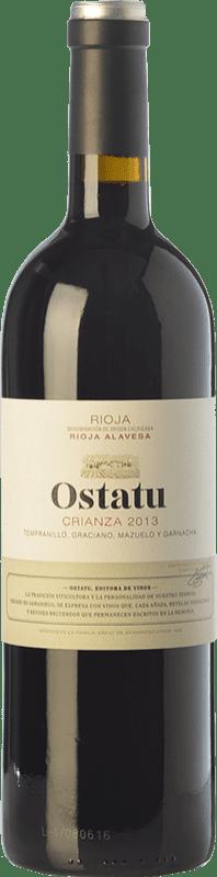 11,95 € 免费送货 | 红酒 Ostatu Crianza D.O.Ca. Rioja 拉里奥哈 西班牙 Tempranillo 瓶子 75 cl