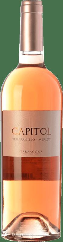 4,95 € Envío gratis | Vino rosado Padró Capitol Joven D.O. Tarragona Cataluña España Tempranillo, Merlot Botella 75 cl