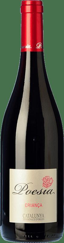 5,95 € Envío gratis | Vino tinto Padró Poesía Crianza D.O. Catalunya Cataluña España Tempranillo, Merlot Botella 75 cl