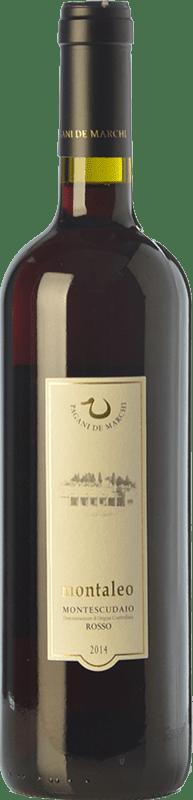 11,95 € Free Shipping | Red wine Pagani de Marchi Montaleo D.O.C. Montescudaio Tuscany Italy Merlot, Cabernet Sauvignon, Sangiovese Bottle 75 cl