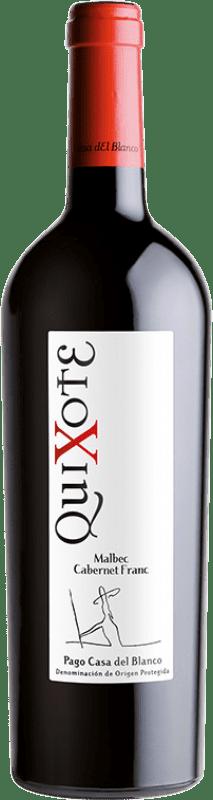 14,95 € Free Shipping | Red wine Casa del Blanco Quixote Crianza D.O.P. Vino de Pago Casa del Blanco Castilla la Mancha Spain Cabernet Franc, Malbec Bottle 75 cl