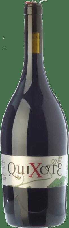 11,95 € Envío gratis | Vino tinto Casa del Blanco Quixote Crianza D.O.P. Vino de Pago Casa del Blanco Castilla la Mancha España Cabernet Franc, Malbec Botella Mágnum 1,5 L