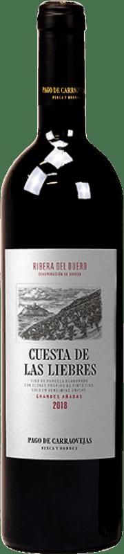 162,95 € Envío gratis | Vino tinto Pago de Carraovejas Cuesta de las Liebres Crianza D.O. Ribera del Duero Castilla y León España Tempranillo Botella 75 cl