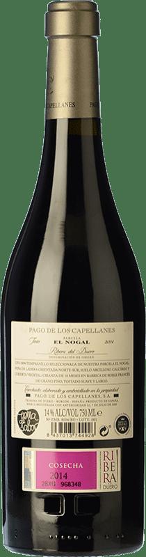 43,95 € Free Shipping | Red wine Pago de los Capellanes El Nogal Reserva D.O. Ribera del Duero Castilla y León Spain Tempranillo Bottle 75 cl