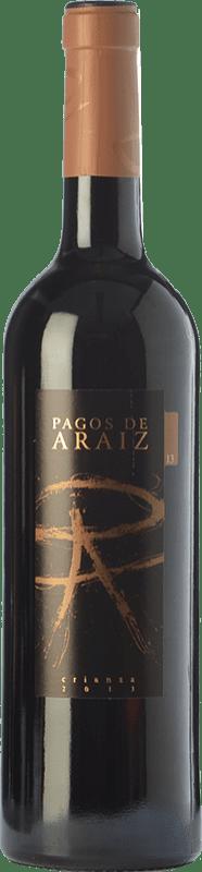 7,95 € Envío gratis | Vino tinto Pagos de Aráiz Crianza D.O. Navarra Navarra España Tempranillo, Merlot, Syrah, Cabernet Sauvignon Botella 75 cl