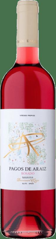 5,95 € Free Shipping | Rosé wine Pagos de Aráiz Joven D.O. Navarra Navarre Spain Grenache Bottle 75 cl