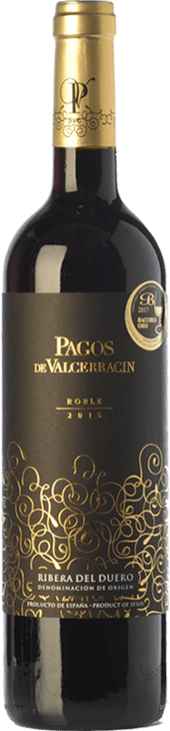 11,95 € 免费送货 | 红酒 Pagos de Valcerracín Roble D.O. Ribera del Duero 卡斯蒂利亚莱昂 西班牙 Tempranillo 瓶子 75 cl