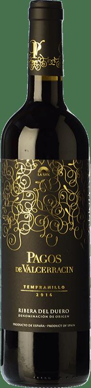 5,95 € Envoi gratuit | Vin rouge Pagos de Valcerracín Joven D.O. Ribera del Duero Castille et Leon Espagne Tempranillo Bouteille 75 cl