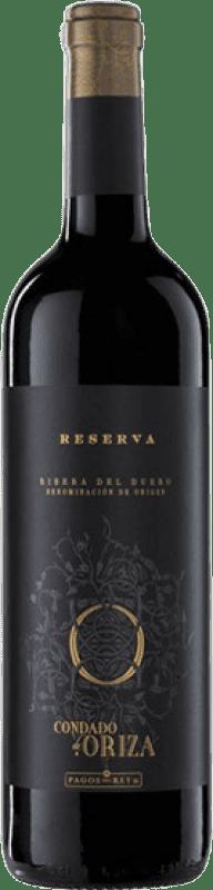 15,95 € Envío gratis | Vino tinto Pagos del Rey Condado de Oriza Reserva D.O. Ribera del Duero Castilla y León España Tempranillo Botella 75 cl