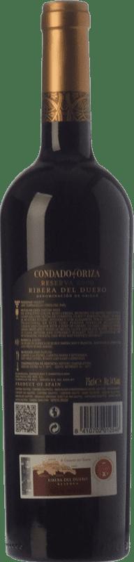 15,95 € Free Shipping | Red wine Pagos del Rey Condado de Oriza Reserva D.O. Ribera del Duero Castilla y León Spain Tempranillo Bottle 75 cl