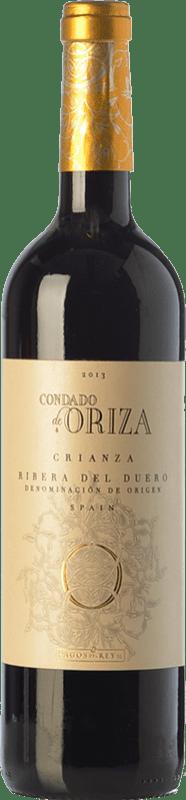 9,95 € Envío gratis | Vino tinto Pagos del Rey Condado de Oriza Crianza D.O. Ribera del Duero Castilla y León España Tempranillo Botella 75 cl