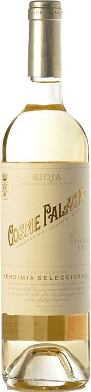 11,95 € Envío gratis | Vino blanco Palacio Cosme Crianza D.O.Ca. Rioja La Rioja España Viura Botella 75 cl