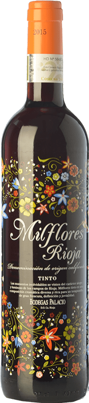 7,95 € Free Shipping | Red wine Palacio Milflores Joven D.O.Ca. Rioja The Rioja Spain Tempranillo Bottle 75 cl