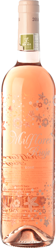 4,95 € Free Shipping | Rosé wine Palacio Milflores Joven D.O.Ca. Rioja The Rioja Spain Tempranillo Bottle 75 cl